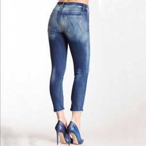 Mother |  Looker in Tequila Truth Cropped Jeans 24